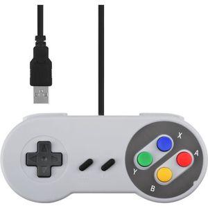 MANETTE JEUX VIDÉO Manette de jeu Contrôleur USB SNES pour PC Windows