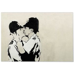 AFFICHE - POSTER Panorama® Poster Graffiti Banksy Policier Anglais