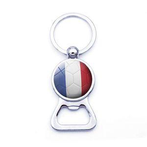 Porte-Cl/és Rond Plastique Blason Haute Normandie Drapeau Symbole France