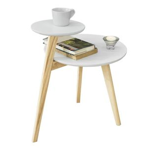 TABLE D'APPOINT SoBuy® FBT53-WN Table Basse Design Table d'Appoint