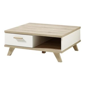 table basse en chene et blanc achat vente table basse. Black Bedroom Furniture Sets. Home Design Ideas