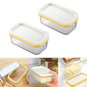 Céramique Beurrier Plateau Support Couvercle Cuisine Réfrigérateur Stockage Crème Dessert NEUF
