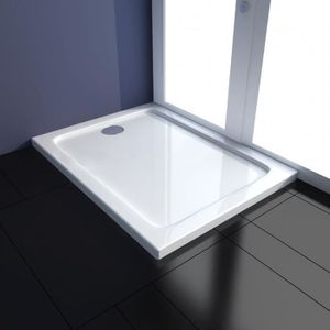MATELAS Receveur de douche Rectangulaire 70 x 90 cm Blanc