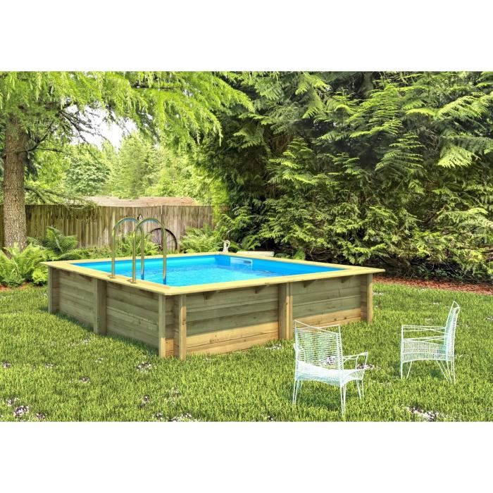 weva piscine bois carr e 3x3 m hauteur 1 20 m achat vente piscine piscine bois carr e. Black Bedroom Furniture Sets. Home Design Ideas
