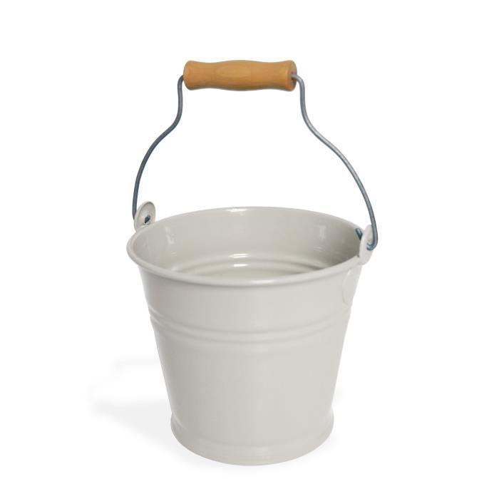 MUNDUS Seau Ethan 1,5 L - 17 x 16,3 x H 15,8 cm - Crème