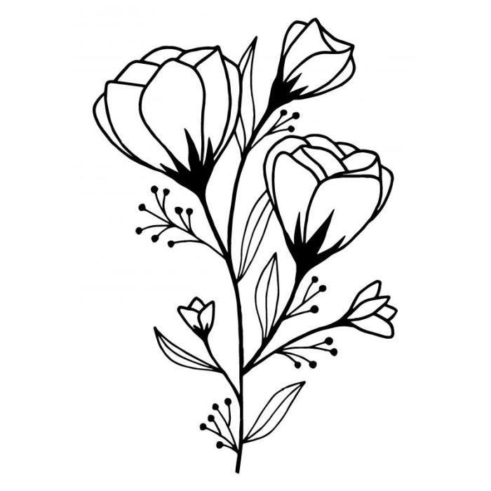Tampon bois 'Artemio' Good vibes Bouquet