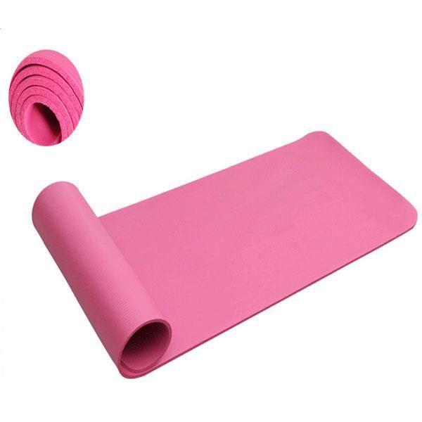 Tapis de Yoga pliable-Tapis de sport-Pour la maison-183x61x1cm-Antidérapant-Avec une Sangle de transport-Rose