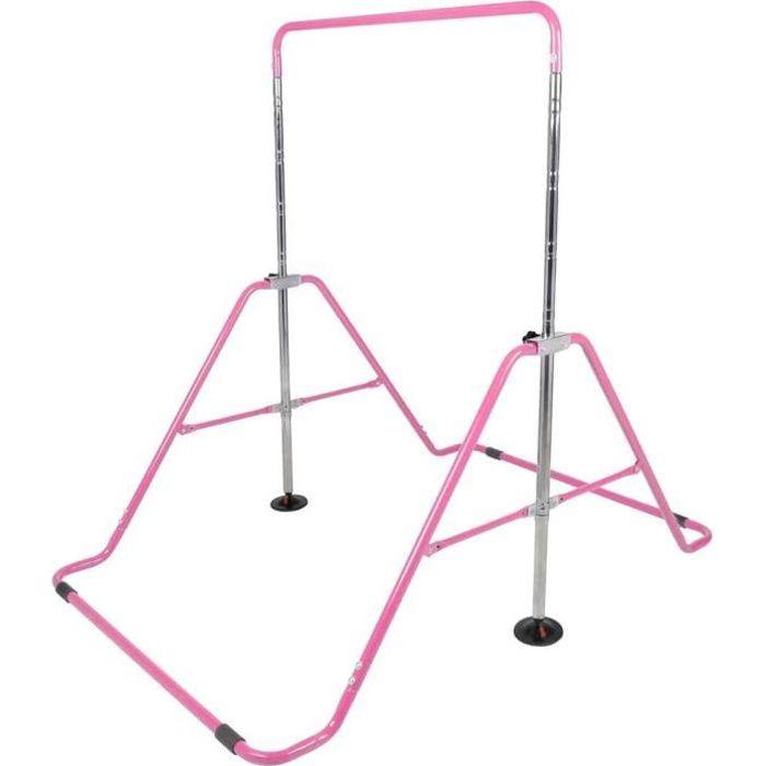 Barre Horizontale Pliable Gymnastique pour Enfants Fitness Maison Équipement d'entraînement Sportif