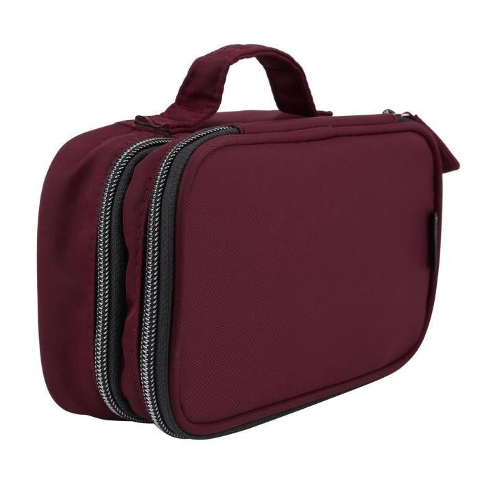 Organisateur portatif de sac cosmétique de maquillage de voyage pour la toilette de brosses de cosmétiques #YIF91014662RD