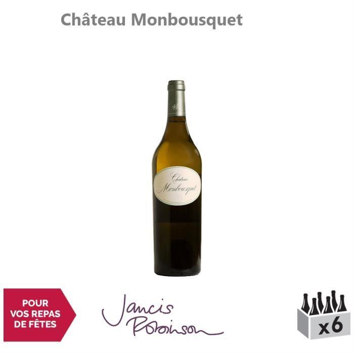 Château Monbousquet Blanc 2015 - Lot de 6x75cl - Appellation AOC Bordeaux - Vin Blanc de Bordeaux - 16-20 Jancis Robinson - Cépages
