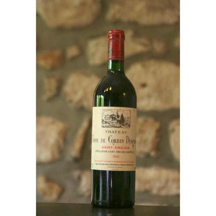 Vin rouge, Château Tour Grand Corbin d'Espagne 1989 Rouge