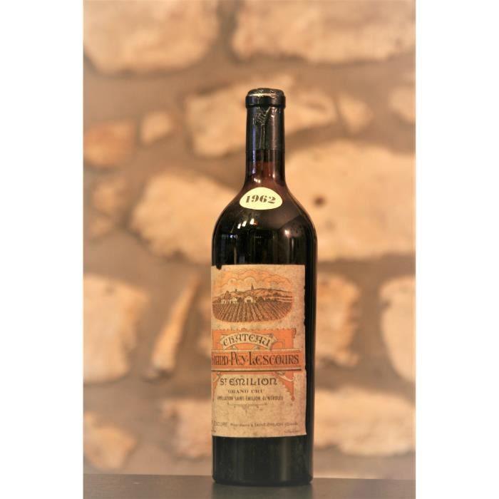 Vin rouge, St Emilion grand Cru, Château Grand Pey Lescours 1962 Rouge
