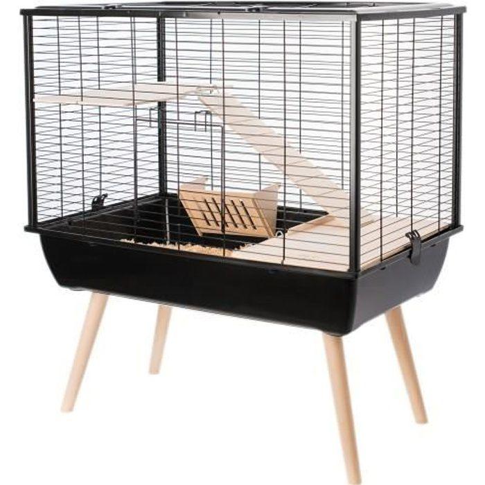 Cage Neo Muki Grands Rongeurs Noir
