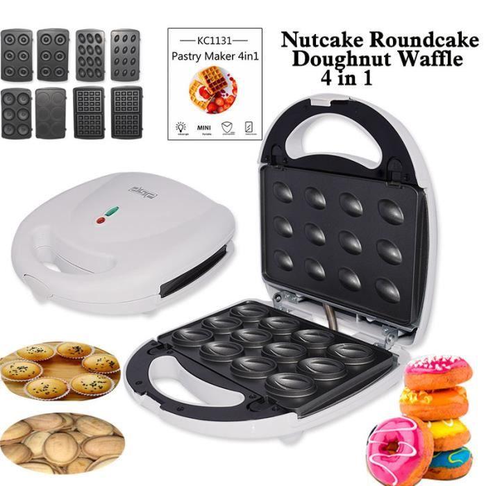 Machine à gâteau électrique multifonctionnelle 4 en 1 fabricant de beignets fabricant de gaufres Sandwich Maker