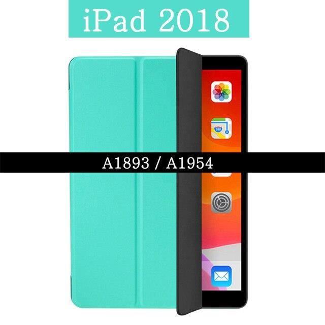 Ultra mince magnétique étui pour iPad 9.7 2017 2018 nouveau A1822-A1893 Smart PU cuir Funda couverture Auto sommeil-réve*BU14151