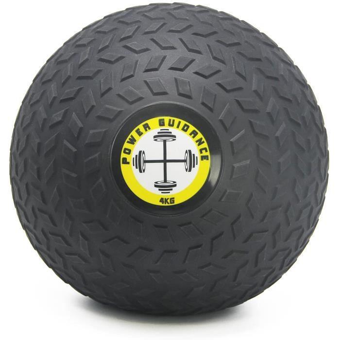 POWER GUIDANCE - Slam Ball Wall Ball Médecine Ball avec Surface texturée pour Une Prise en Main Facile, et lestée en Caoutchouc 4kg