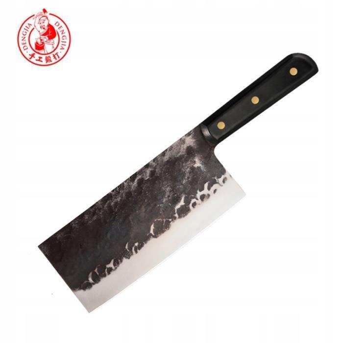 Couteau de chef en acier au carbone DENGJIA