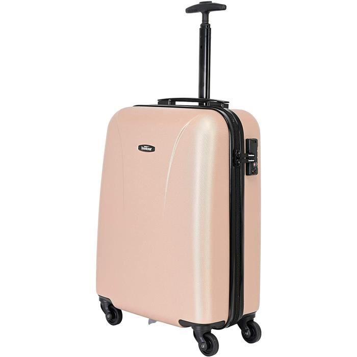 VALISE OU BAGAGE VENDU SEUL BONTOUR Valise rigide de vacance, l&eacuteg&egravere, à roulettes, avec cadenas TSA115