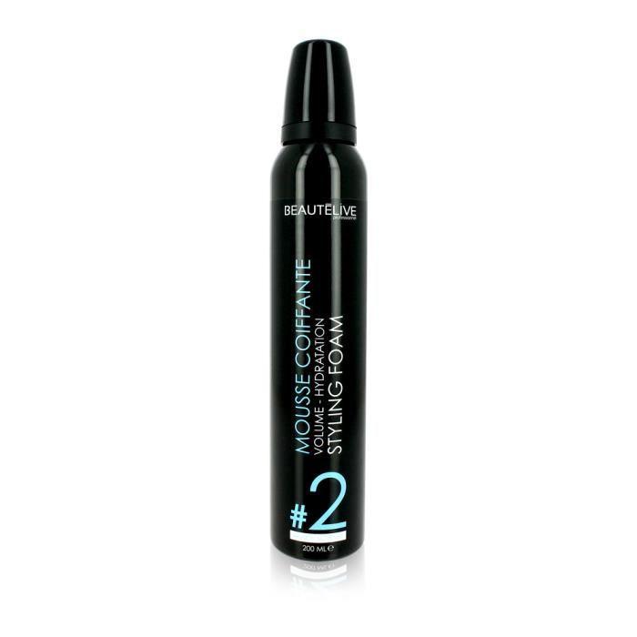 Beautélive, Mousse coiffante volume et hydratation 200ml, Coiffant Mousse Hydratant Cheveux