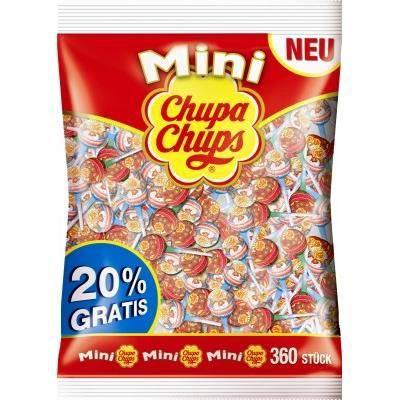 Chupa Chups Sucettes mini, 360 pièces