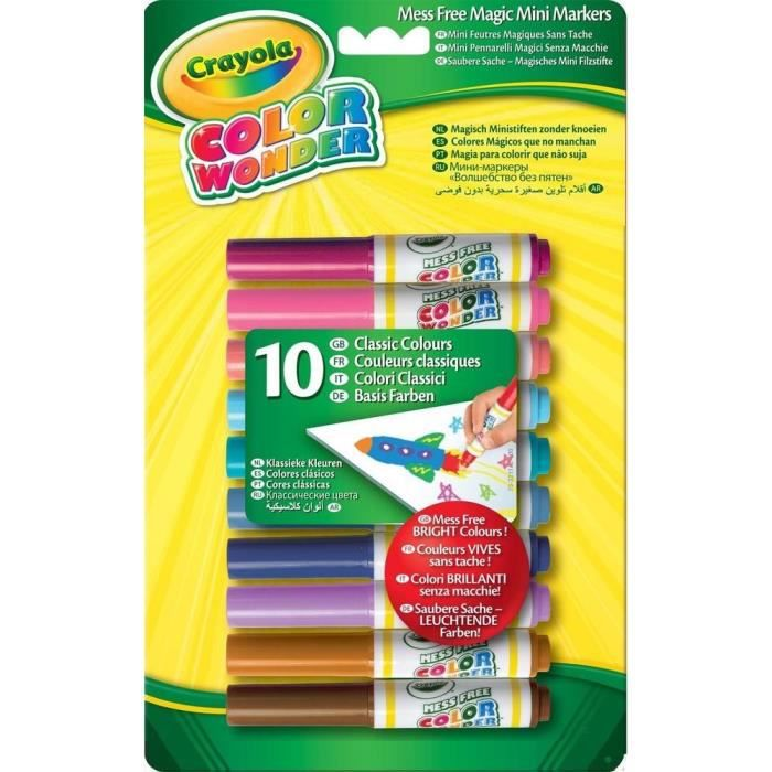 CRAYOLA 10 Mini-feutres Color Wonder