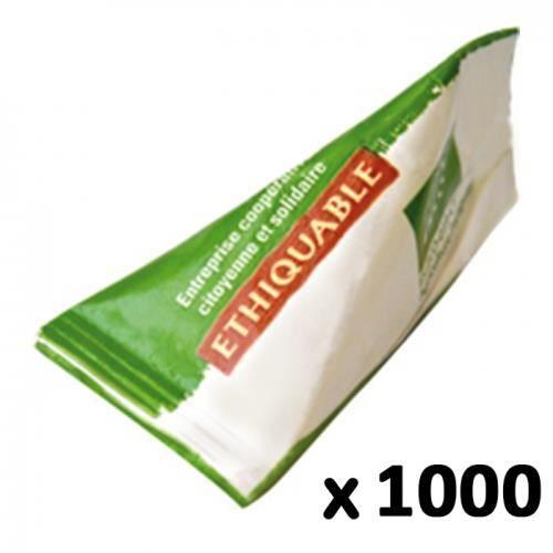 ETHIQUABLE - Buchette de sucre de canne blond bio & équitable 1000 Berlingots de 4 g (soit 4kg) - Paraguay