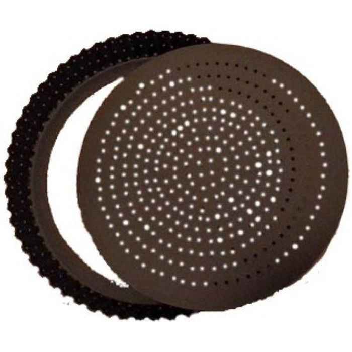 MOULE A TARTE TOURTIERE PERFOREE CANNELLEE FOND AMOVIBLE REVETEMENT ANTI ADHERENT 20 CM - GOBEL