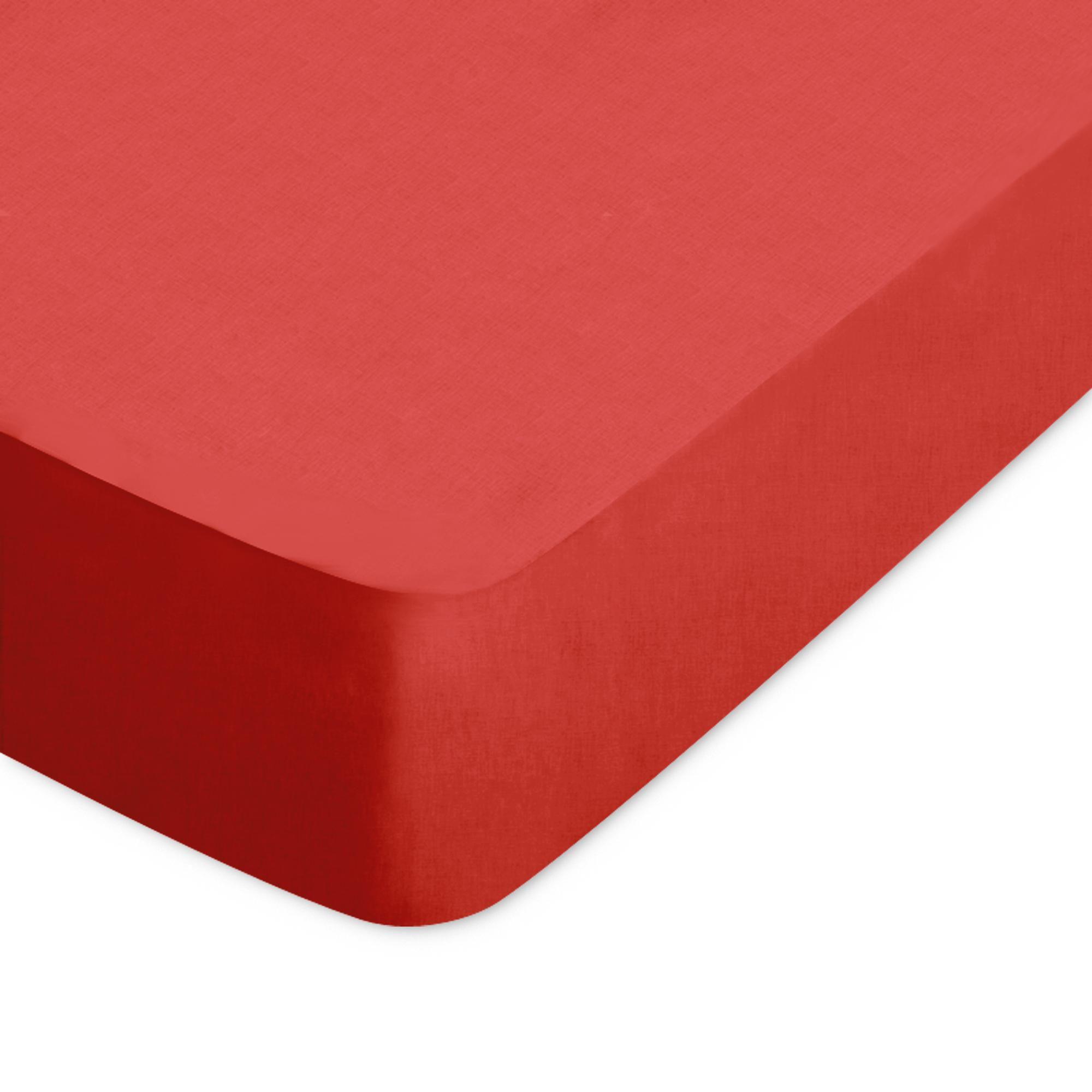 Drap housse uni 80x190 cm 100% coton ALTO orange Baie de Goji Orange
