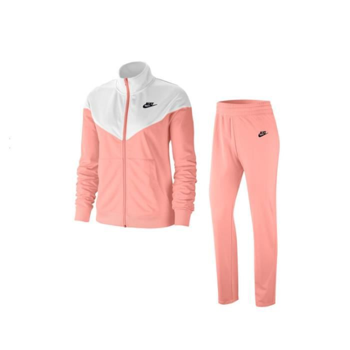 SURVETEMENT NEWS SPORTSWEAR FEMME BLANC/SAUMON psg