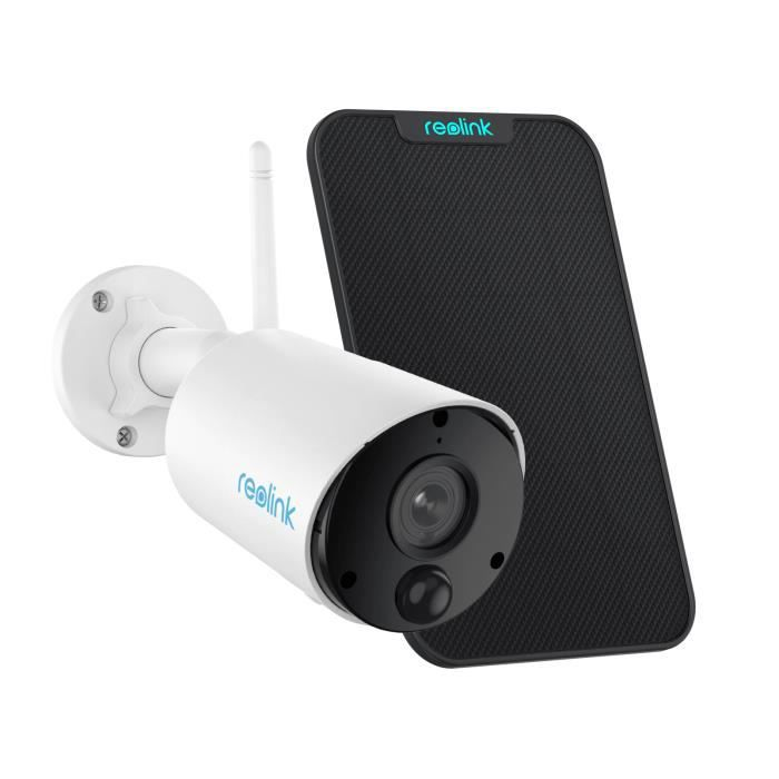 Reolink Caméra Surveillance Extérieur WiFi Batterie 1080p Argus Eco avec Panneau Solaire Détection PIR Audio Bidirectionnel