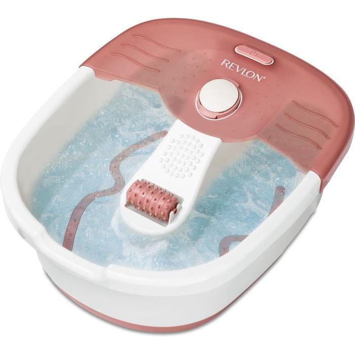 REVLON RVFB7021PE2 Thalasso Prediprep - Bain à bulles revigorant - maintien de la température - pierre ponce et rouleau de massage