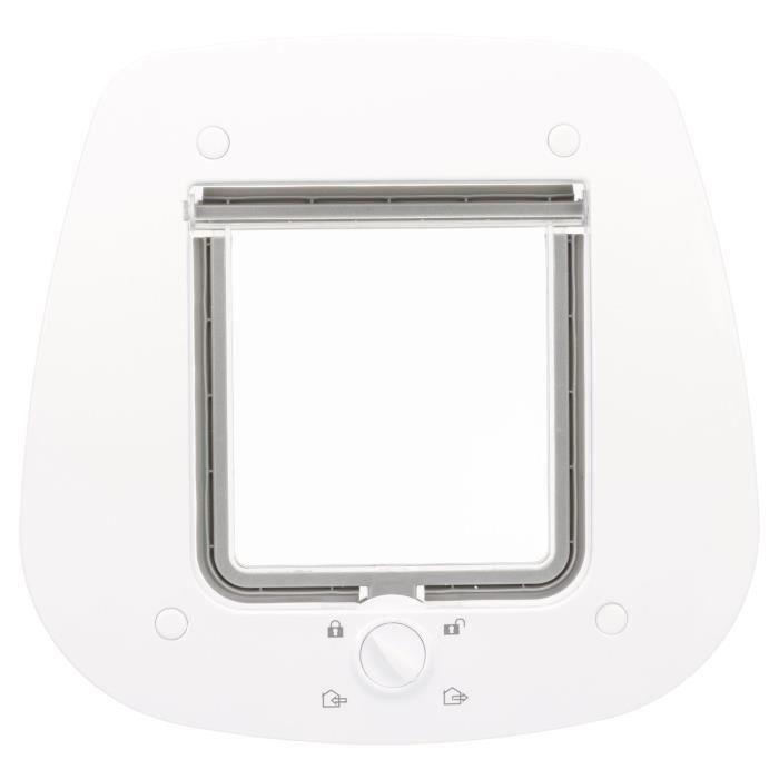 TRIXIE Chatière 4 positions pour portes en verre 27 x 27 cm Blanc