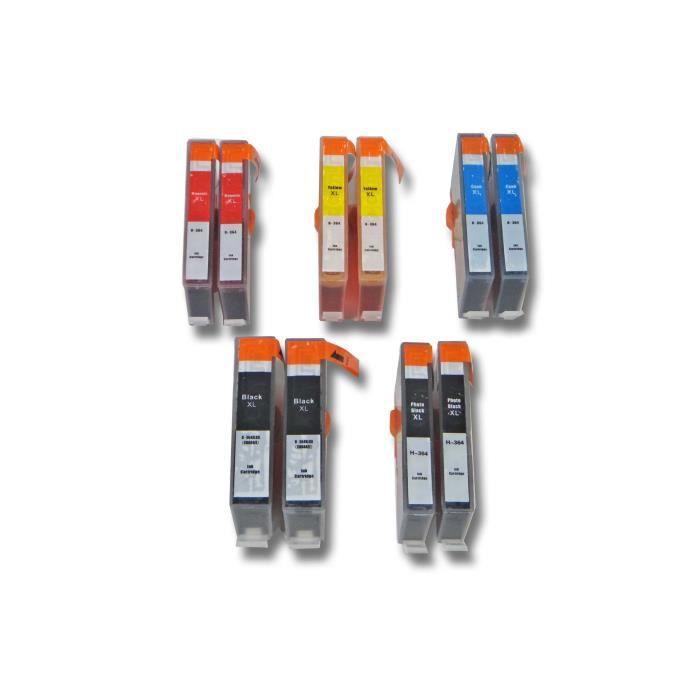 vhbw 10x cartouche d'encre compatible lot pour HP Photosmart B109n, B110, B110A, B110C