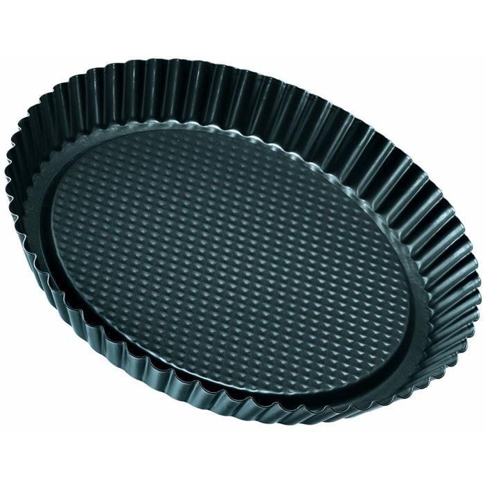 Zenker 6521 Moule à Tarte Acier Inoxydable Noir Métallique Diamètre 28 cm: Cuisine & Maison