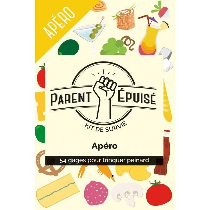 JEU SOCIÉTÉ - PLATEAU PARENT EPUISE: kit de survie Apéro