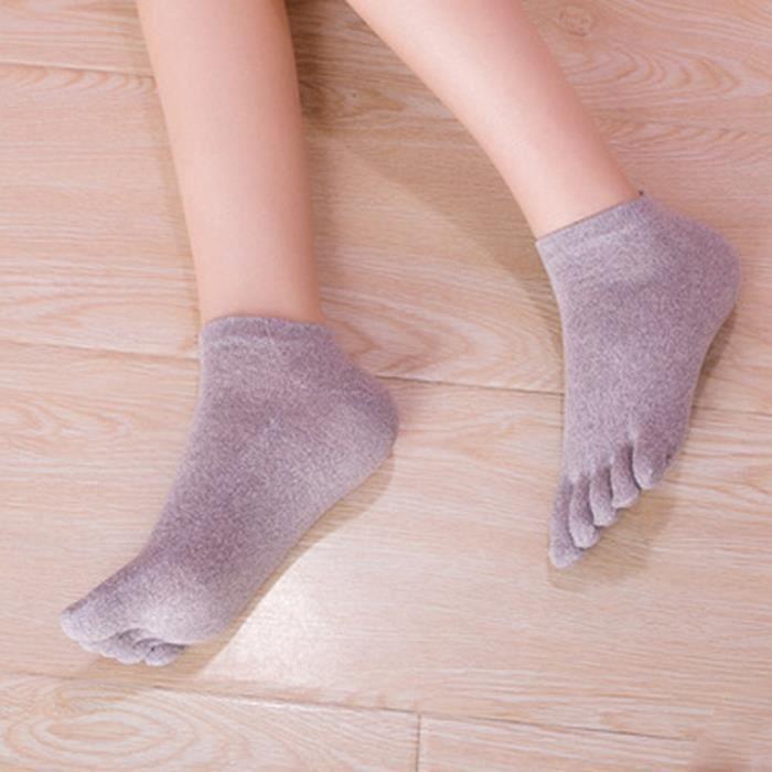 2-4 paire de chaussettes orteils Cinq orteils Chaussettes Coton Coloré chiné Femmes