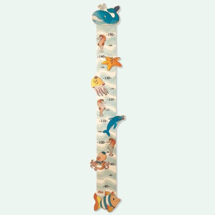 D/écoration Chambre B/éb/é D/écoration Murale Amovible 30 x 142cm Toise Murale Enfant /à Suspendre Toise Murale Enfant Bois Manyo Toise Murale Enfant Animaux H/élicopt/ère