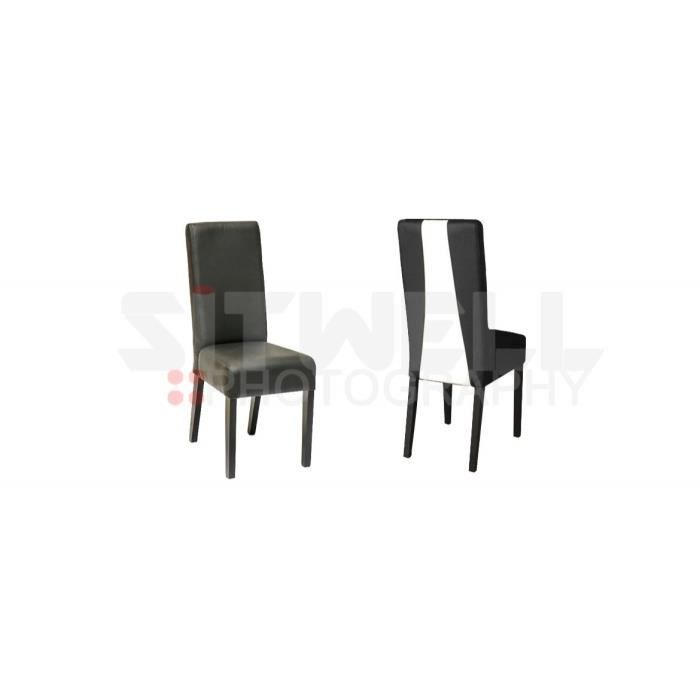 chaise noire et blanche achat vente chaise noir cdiscount. Black Bedroom Furniture Sets. Home Design Ideas