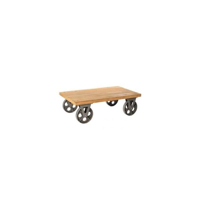 Table basse industrielle chariot dimensions achat for Dimensions table basse
