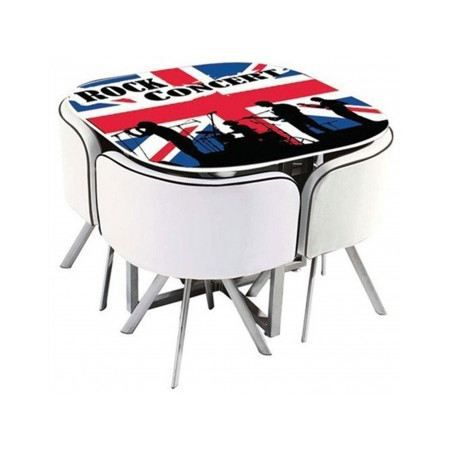 Table manger rock london 4 chaises plateau en verre - Achat table a manger ...