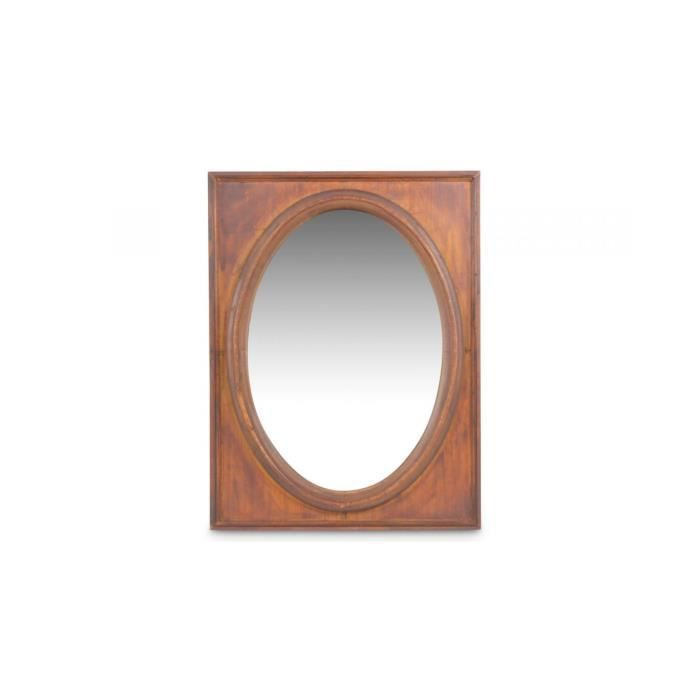 miroir ancien oval vertical bois achat vente miroir bois cdiscount. Black Bedroom Furniture Sets. Home Design Ideas