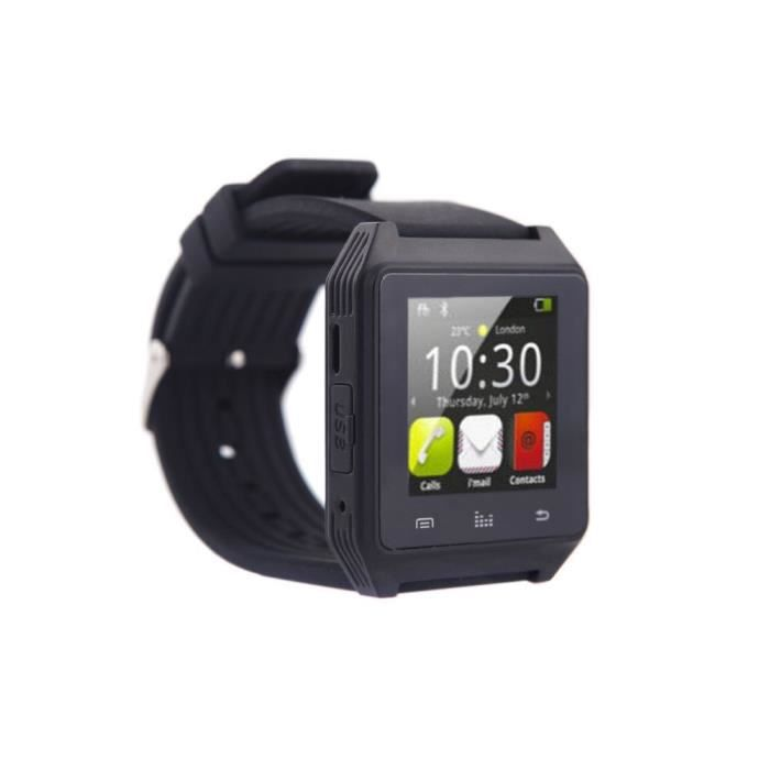 montre bluetooth pour smartphone android anti perte d 39 alarme fonction cran tactile sync sms. Black Bedroom Furniture Sets. Home Design Ideas
