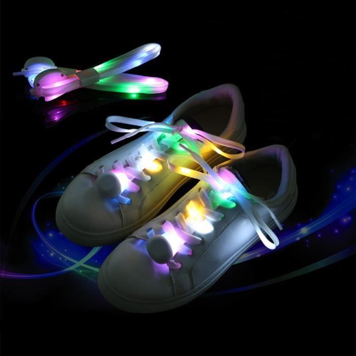 Illuminez LED Lacets de Chaussures Party Disco clignotant 8 couleur glow