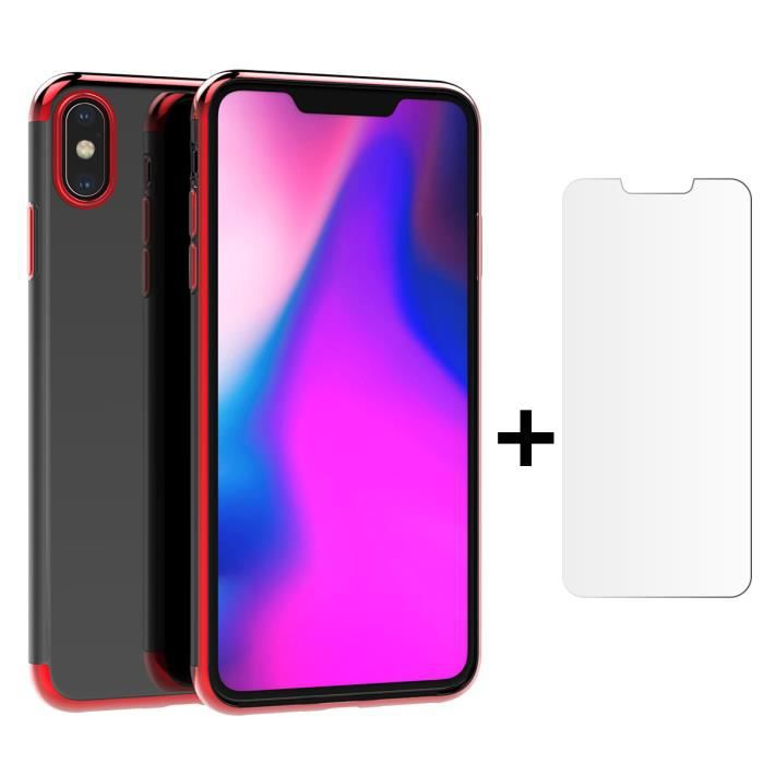 coque iphone xs max silicone rouge