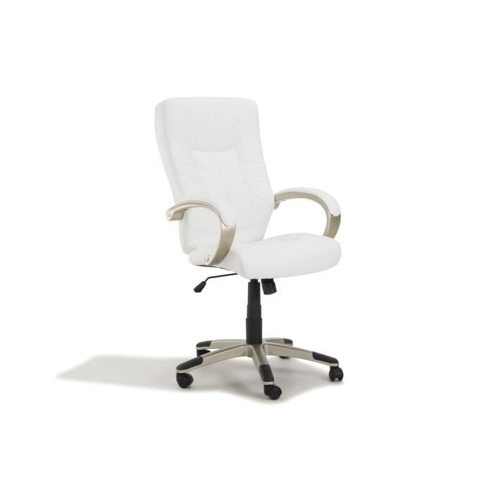manager fauteuil de bureau blanc achat vente chaise de. Black Bedroom Furniture Sets. Home Design Ideas