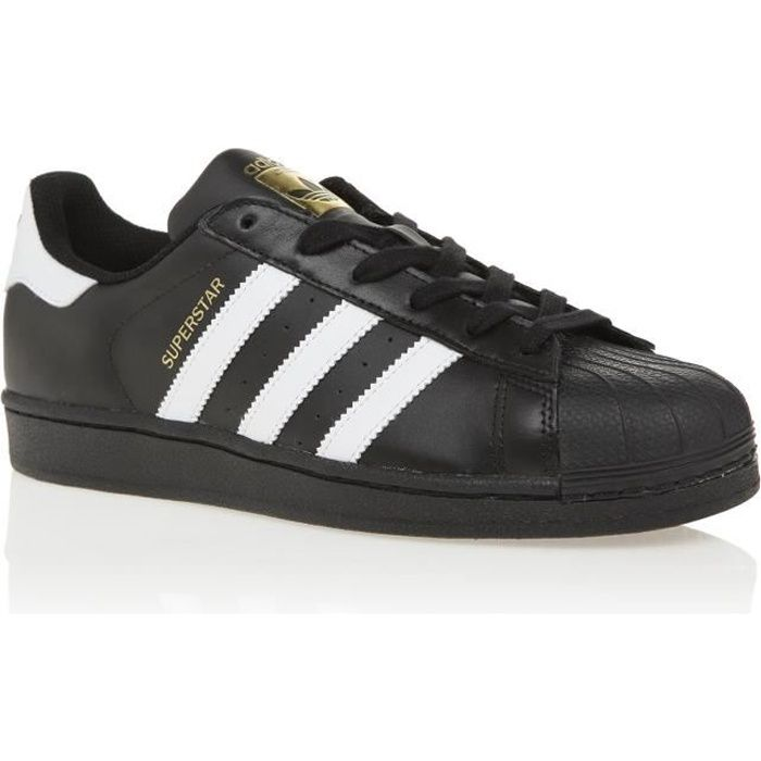 best service c22ca 08f47 ADIDAS ORIGINALS Basket Homme Superstar Foundation - Cuir - Noir et Blanc