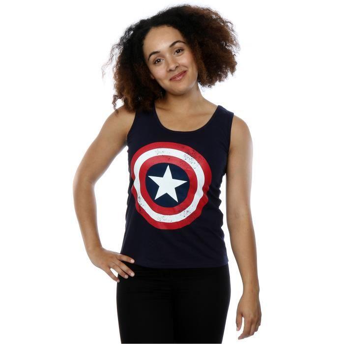 Officiellement Marchandises sous Licence Captain America Logo Femme T-Shirt