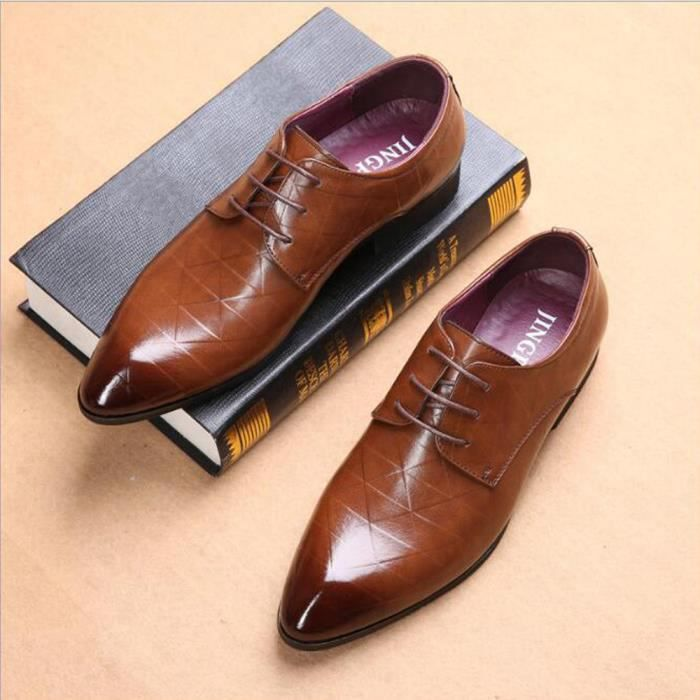 chaussure homme marron