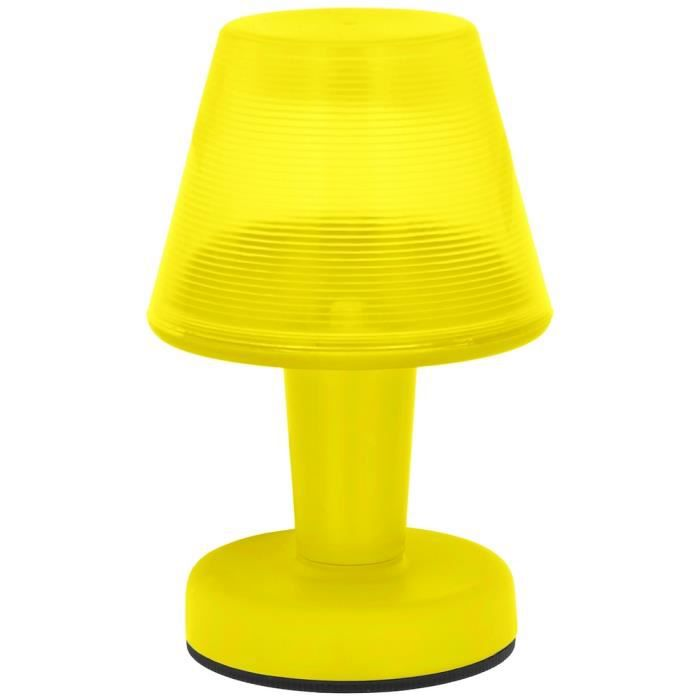 lampe veilleuse led a poser design city fluo id al petit eclairage nuit jaune achat vente. Black Bedroom Furniture Sets. Home Design Ideas