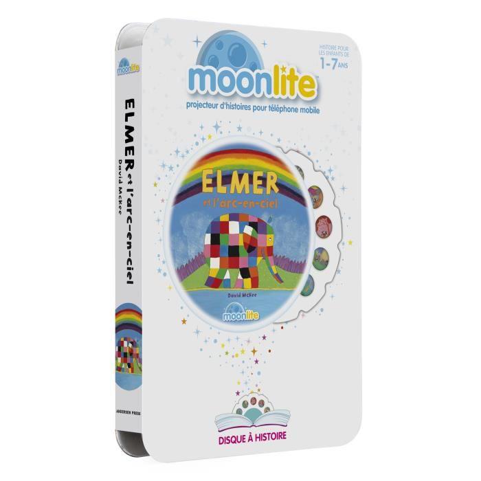 LIVRE INTERACTIF ENFANT MOONLITE Pack Histoire - Elmer et l'arc en ciel
